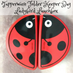 Tupperware Folder Keeper Bug Ladybird Lunchbox